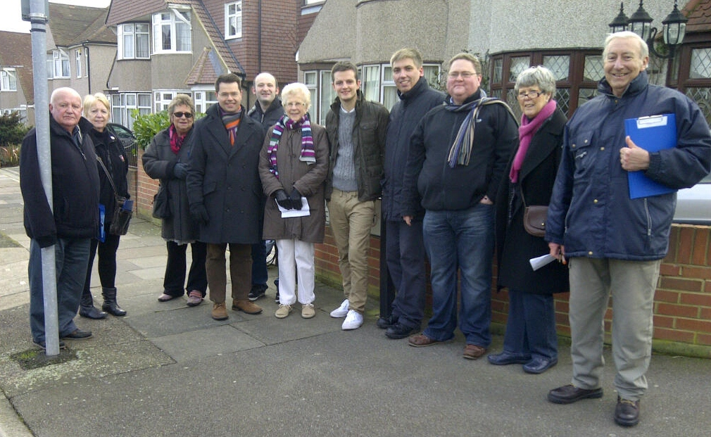 OBSCA Members out Canvassing