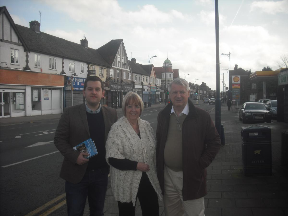 Left to right cllr louie french cllr val clark cllr nigel betts